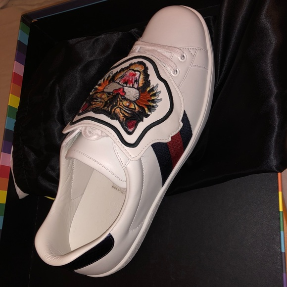 0bfa13b0c Gucci Shoes   Ace Sneaker Angry Cat Patch   Poshmark
